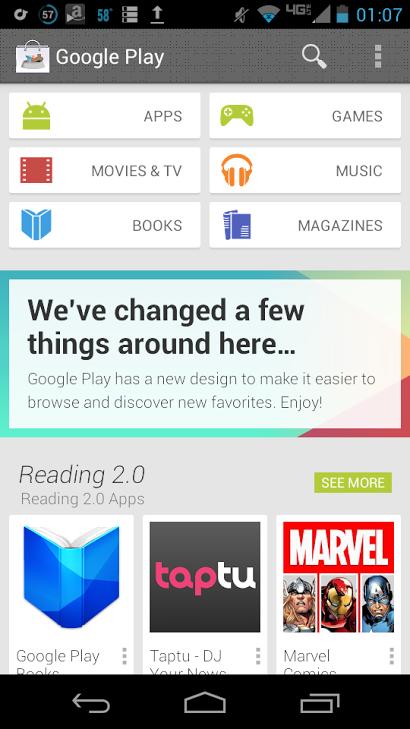 google play store new
