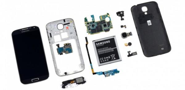Samsung Galaxy S4 komponenty