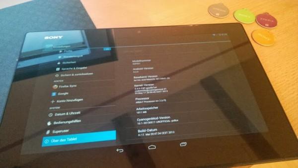 Xperia Tablet Z cyanogenmod 10.1