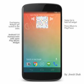 Android-5.0-Music-Widget