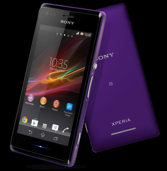 Sony XPeria M fialova