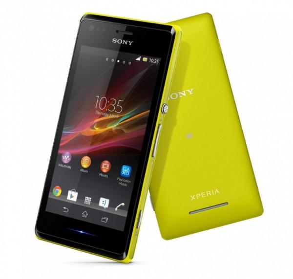 Sony Xperia M zluta