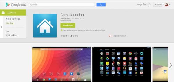 Google play aplikace