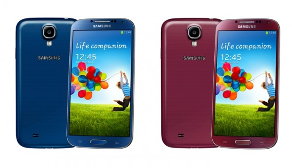 Samsung Galaxy S4 Red Blue