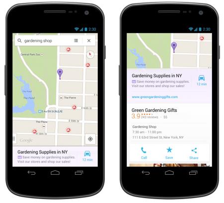 Google mapy nově zobrazují reklamu ve vyhledávání