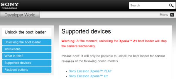 Xperia Z1 bootloader