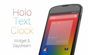 Holo Text Clock