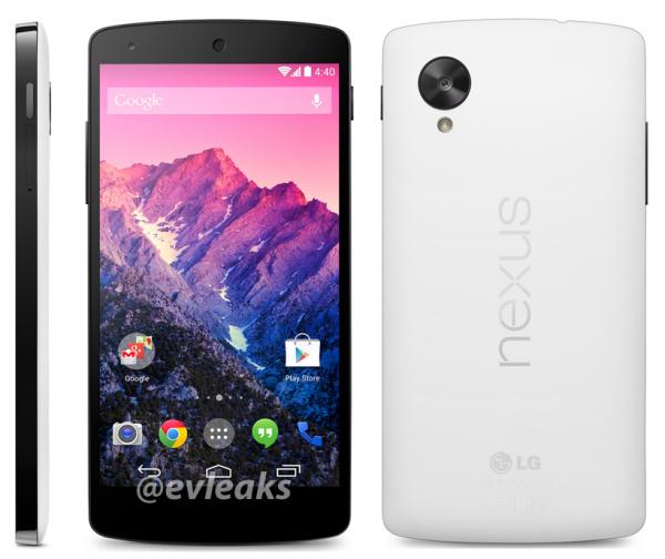 Nexus 5 evleaks white