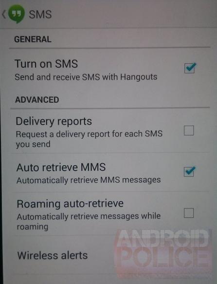 google hangouts sms leak