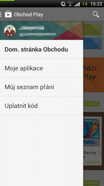 google play menu