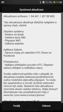 HTC One Max aktualizace