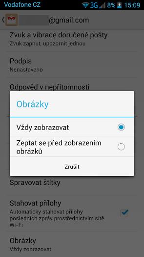 gmail aktualizace 1