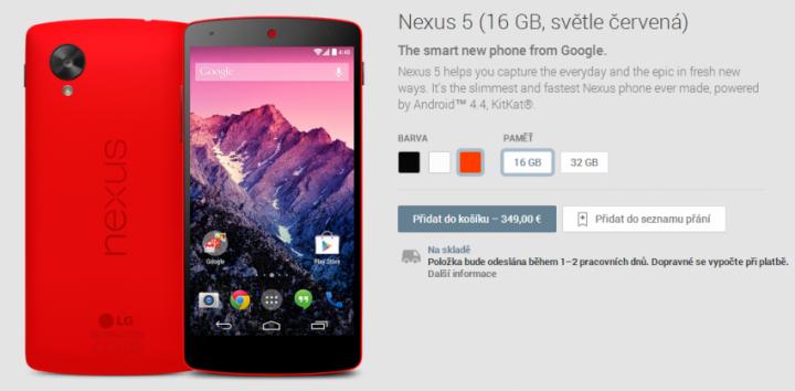 Nexus 5 red google play