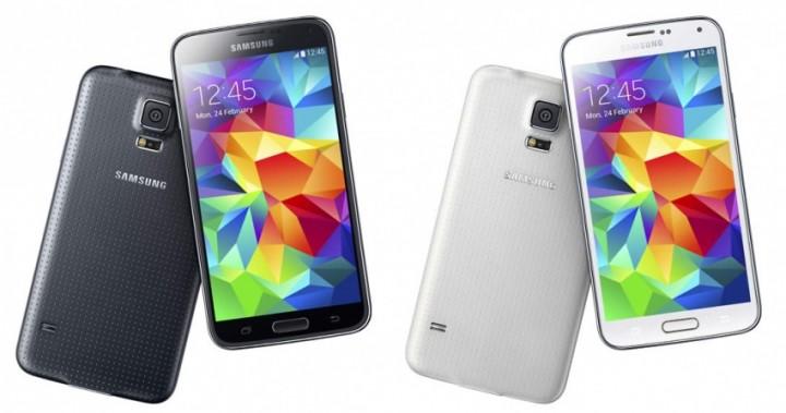 Samsung Galaxy S5 black white
