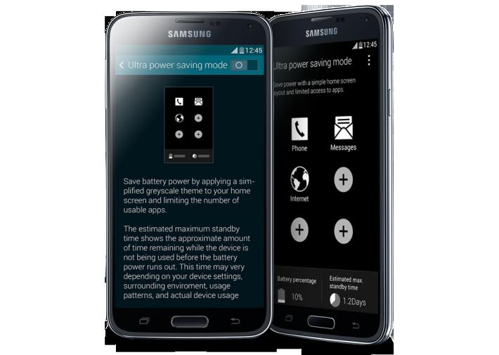 Samsung Galaxy S5 - Ultra power saving mode