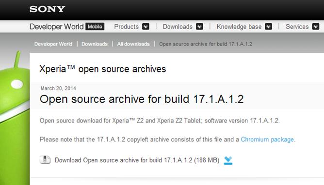 Sony - Open source