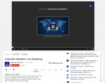 Google Chromecast Live