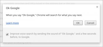 Chrome OS OK Google