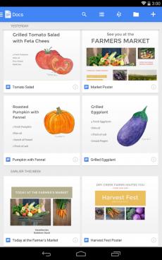 Dokumenty Google1 230x368 Google vydal aplikace Dokumenty a Tabulky