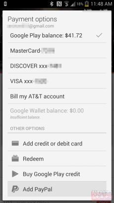 Google Play - PayPal