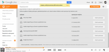 Google Play music autorizace