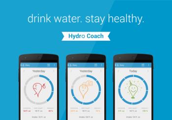 Aplikace Hydro Coach se stará o správný příjem vody