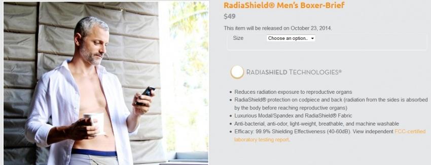 Boxerky jako ochrana proti radiaci z telefonů