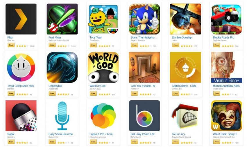 Stáhněte si z Amazonu populární placené aplikace a hry pro Android zdarma