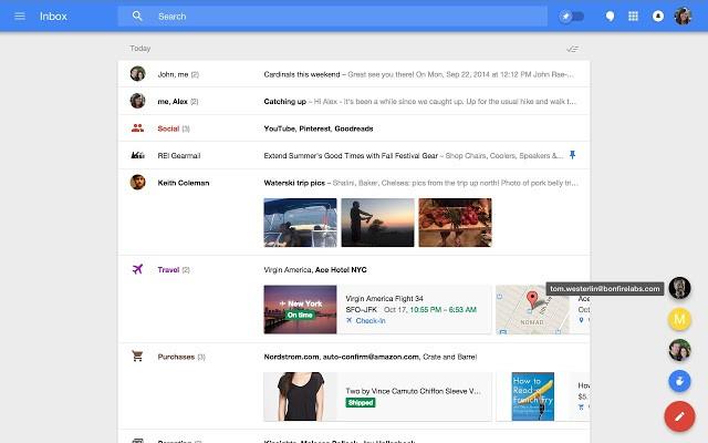 Google oficiálně uvolnil Chrome rozšíření pro Inbox