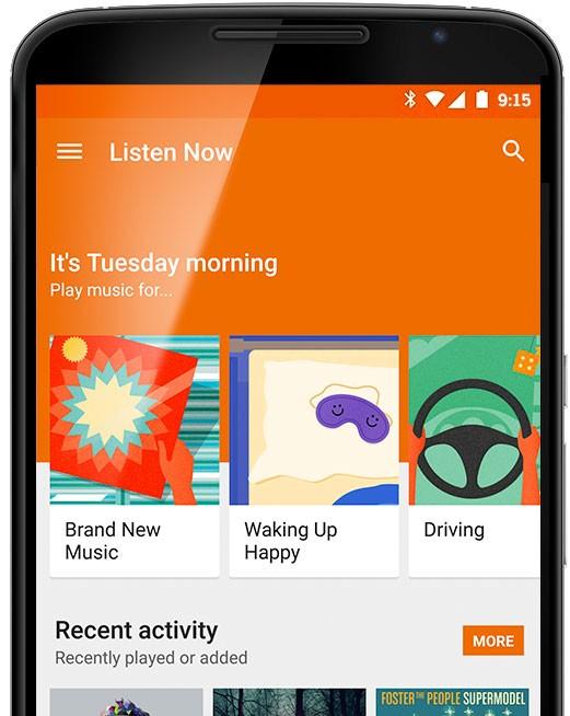 Nový Google Play Music integruje dříve odkoupenou službu Songza