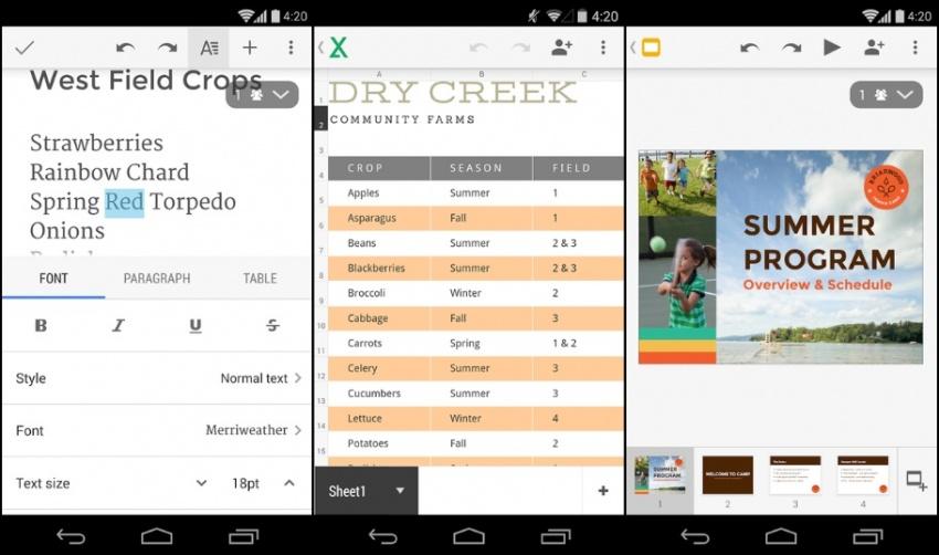 6 nejlepších kancelářských aplikací pro Android