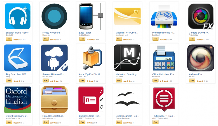 Amazon Free App of the Day Apps