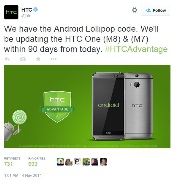 HTC twitter