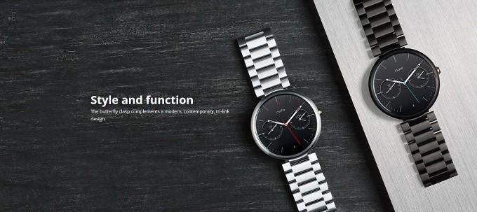 Motorola začala prodávat kožené a ocelové pásky k Moto 360
