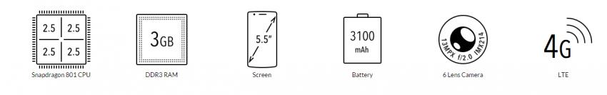 OnePlus One  specifikace