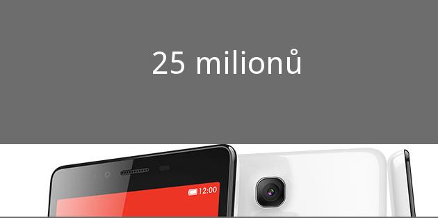 CEO Xiaomi oznámil, že již do obchodů odeslali 25 milionů kusů Red Mi