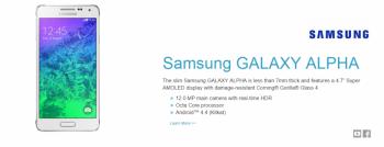 CORNING GORILLA GLASS  Samsung GALAXY ALPHA