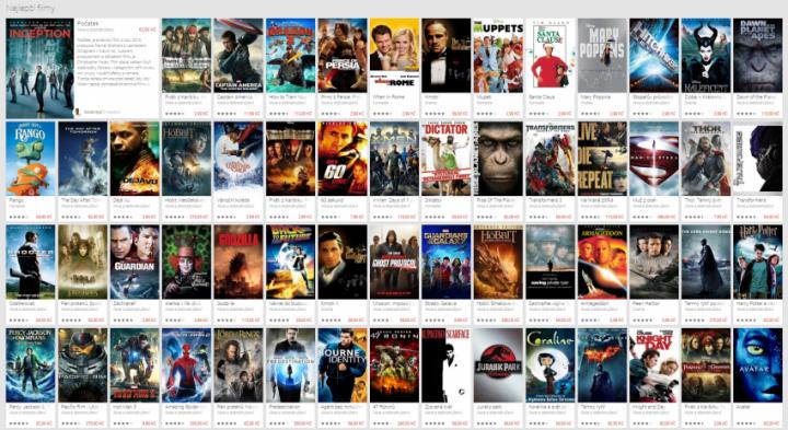 Filmy akce Google Play