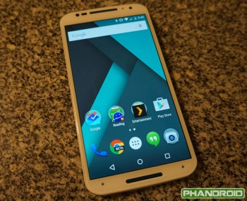 Motorola Moto X dostává v Indii update na Android 5.0 Lollipop