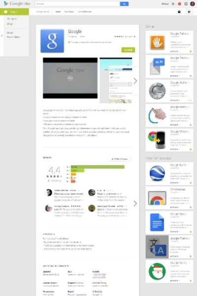 Některým uživatelům se změnilo rozložení webového Google Play