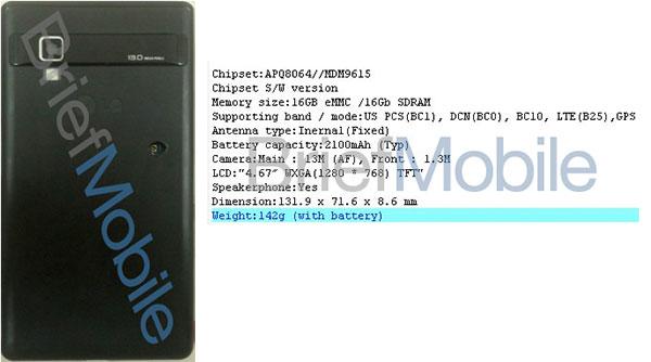 "LG Eclipse – čtyřjádrový SnapDragon S4, 2GB RAM a 4,6"" HD displej"
