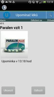 upominac leku 3 190x337 Upomínač léků   česká aplikace pro Android